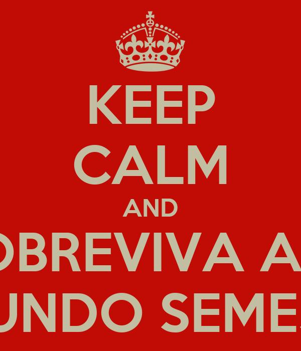 KEEP CALM AND SOBREVIVA AO  SEGUNDO SEMESTRE
