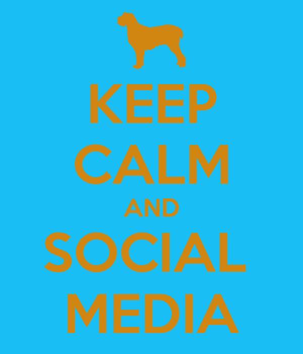 KEEP CALM AND SOCIAL  MEDIA