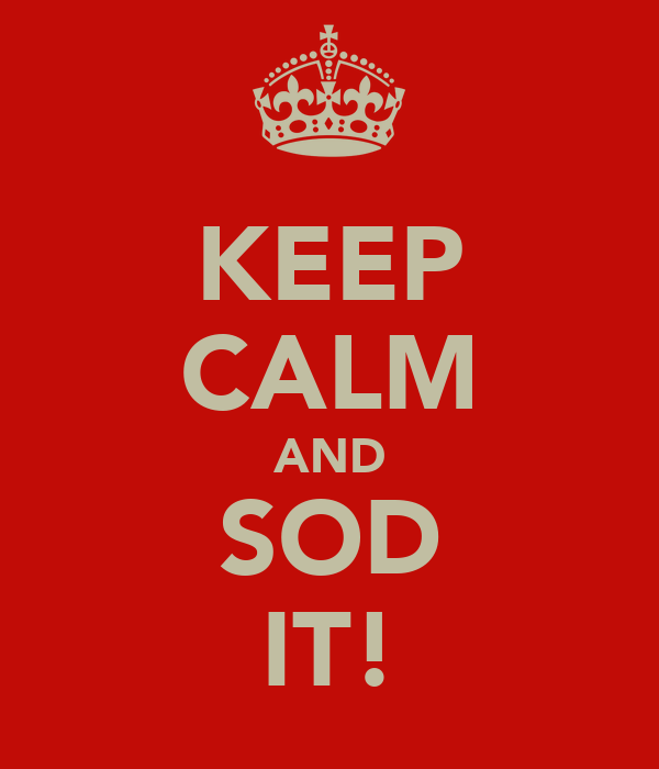 KEEP CALM AND SOD IT!