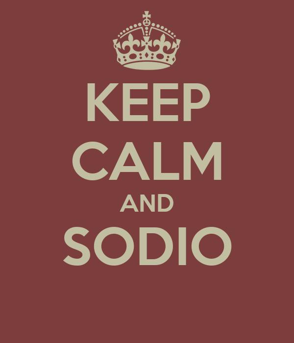 KEEP CALM AND SODIO