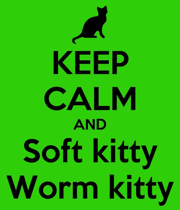 KEEP CALM AND Soft kitty Worm kitty