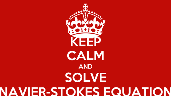 KEEP CALM AND SOLVE NAVIER-STOKES EQUATION