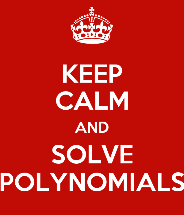 how to solve large polynomials