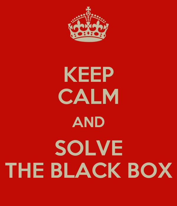 KEEP CALM AND SOLVE THE BLACK BOX