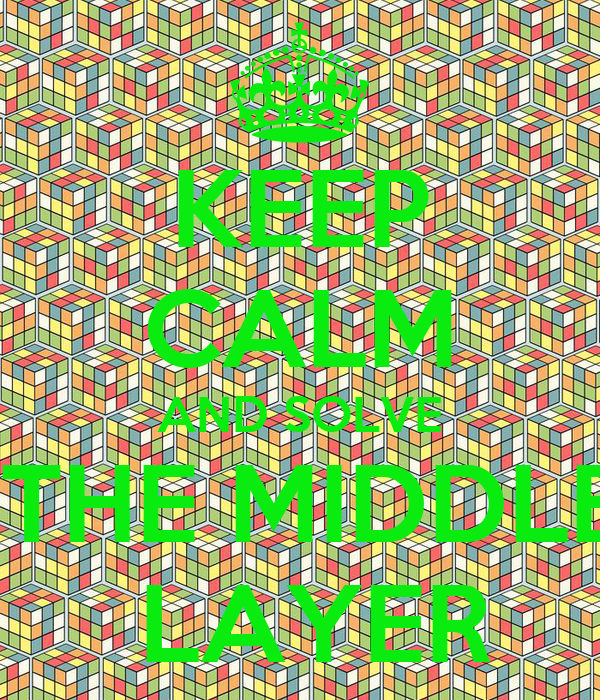KEEP CALM AND SOLVE  THE MIDDLE  LAYER