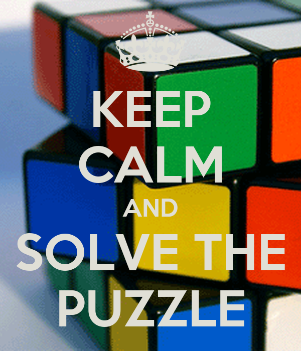 KEEP CALM AND SOLVE THE PUZZLE