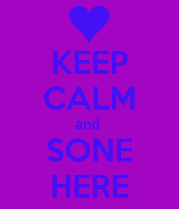 KEEP CALM and  SONE HERE