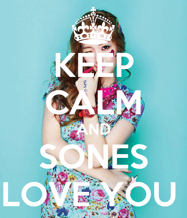 KEEP CALM AND SONES LOVE YOU