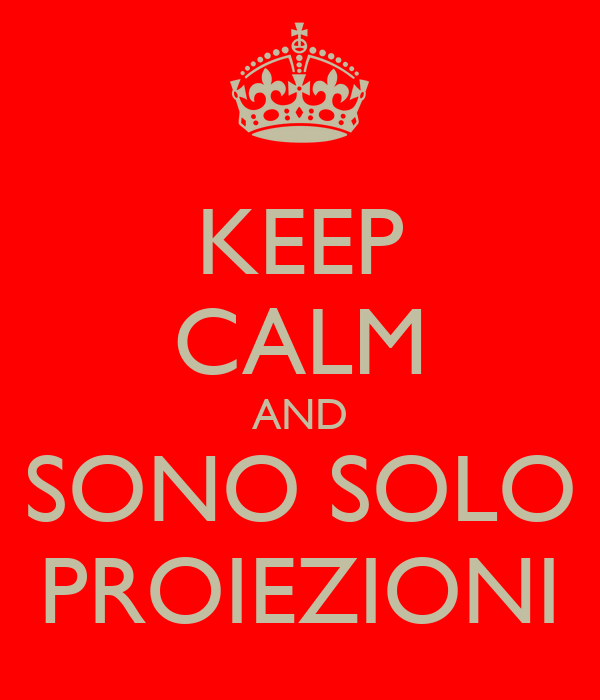 KEEP CALM AND SONO SOLO PROIEZIONI