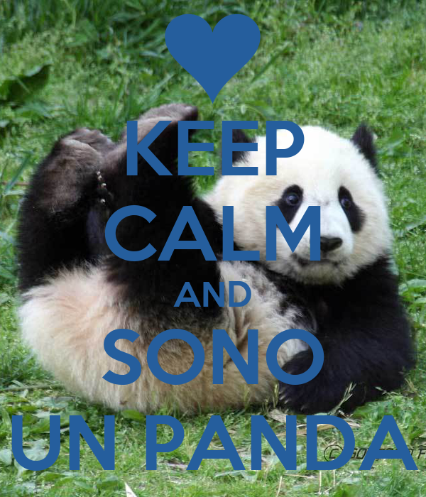KEEP CALM AND SONO UN PANDA