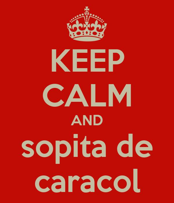 KEEP CALM AND sopita de caracol