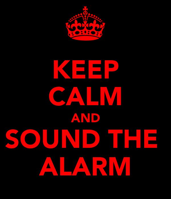 KEEP CALM AND SOUND THE  ALARM