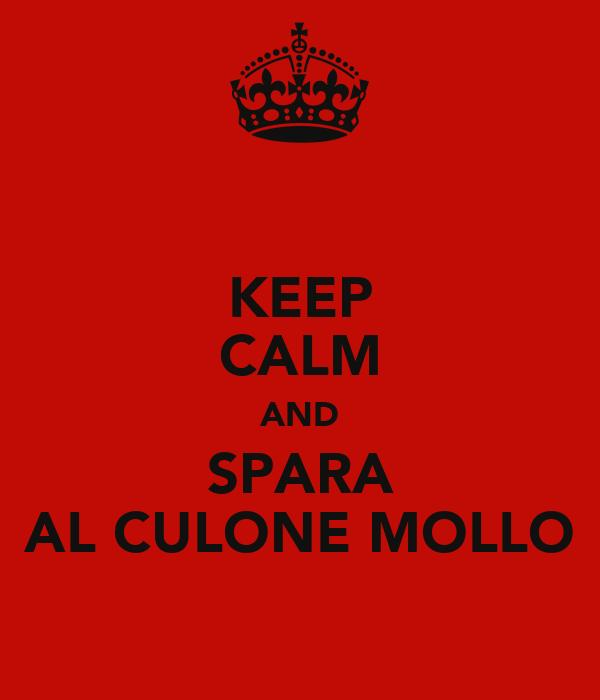 KEEP CALM AND SPARA AL CULONE MOLLO