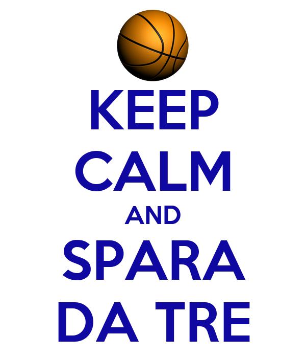 KEEP CALM AND SPARA DA TRE