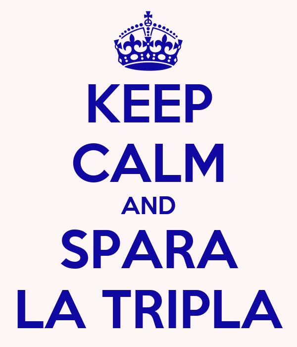 KEEP CALM AND SPARA LA TRIPLA