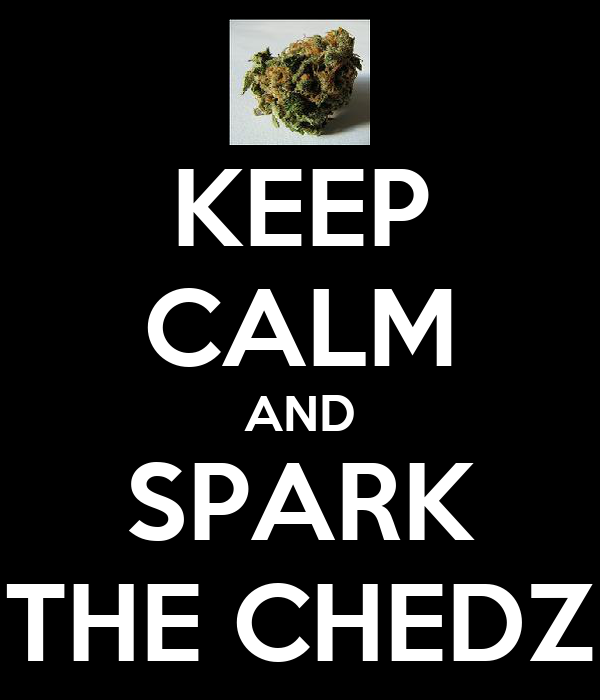KEEP CALM AND SPARK THE CHEDZ