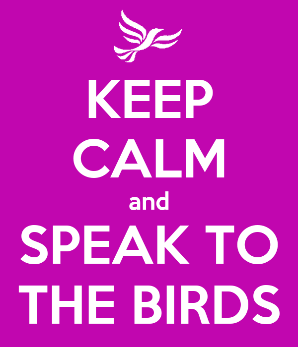 KEEP CALM and SPEAK TO THE BIRDS