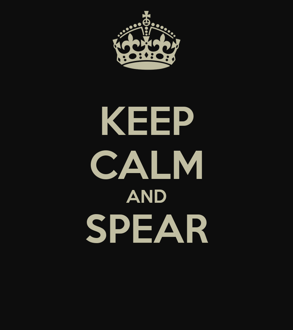KEEP CALM AND SPEAR