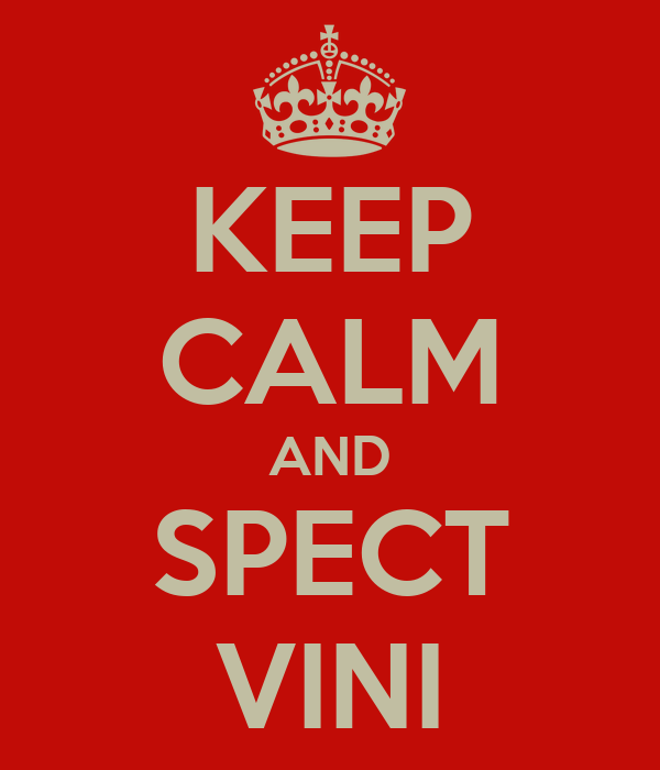 KEEP CALM AND SPECT VINI