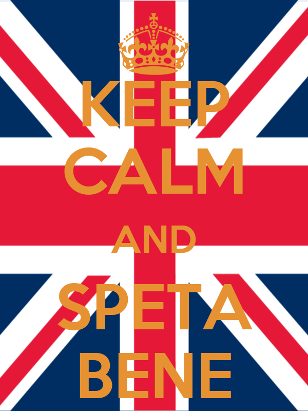 KEEP CALM AND SPETA BENE