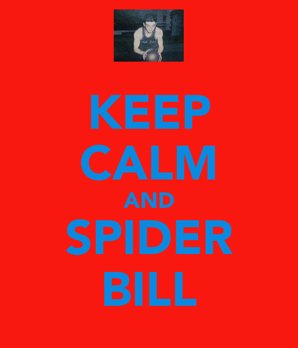 KEEP CALM AND SPIDER BILL