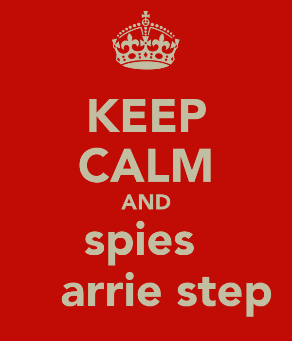 KEEP CALM AND spies   έ arrie step