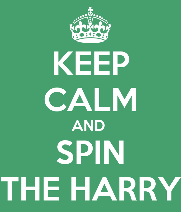 KEEP CALM AND  SPIN THE HARRY
