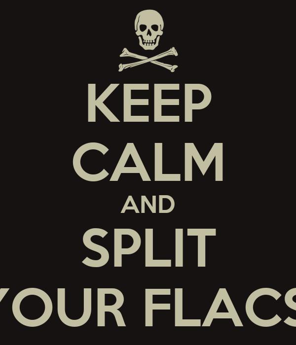 KEEP CALM AND SPLIT YOUR FLACS!