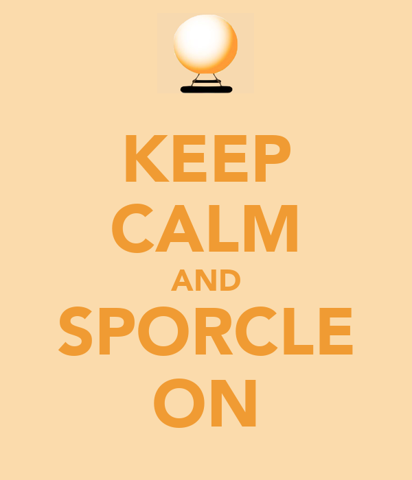 KEEP CALM AND SPORCLE ON