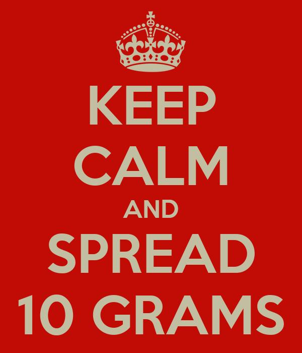 KEEP CALM AND SPREAD 10 GRAMS