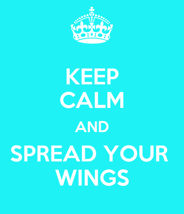 KEEP CALM AND SPREAD YOUR  WINGS