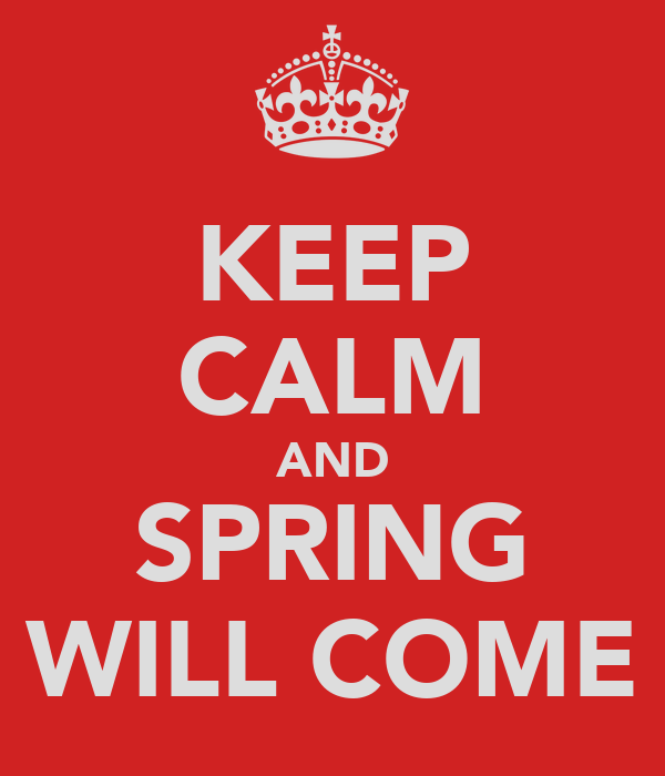 KEEP CALM AND SPRING WILL COME