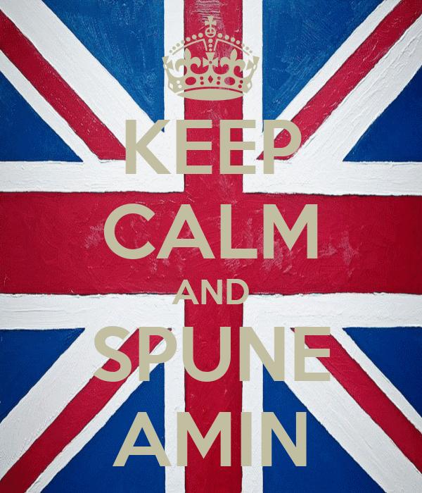 KEEP CALM AND SPUNE AMIN