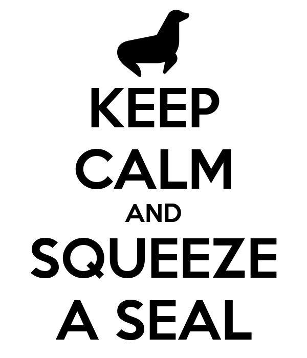 KEEP CALM AND SQUEEZE A SEAL