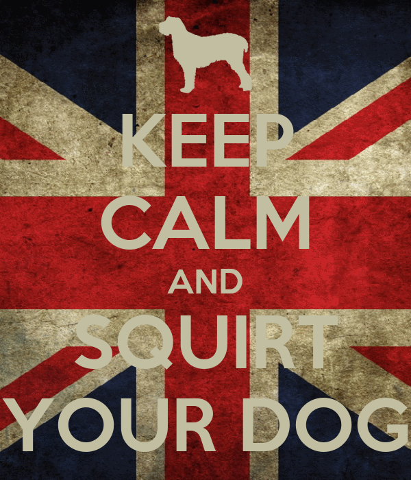 KEEP CALM AND SQUIRT YOUR DOG