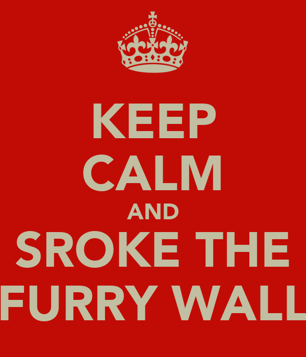 KEEP CALM AND SROKE THE FURRY WALL
