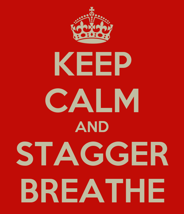 KEEP CALM AND STAGGER BREATHE