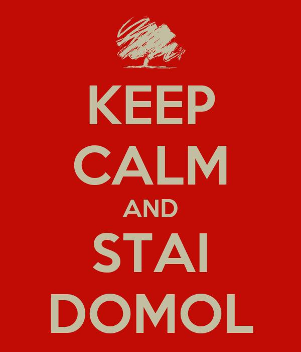 KEEP CALM AND STAI DOMOL