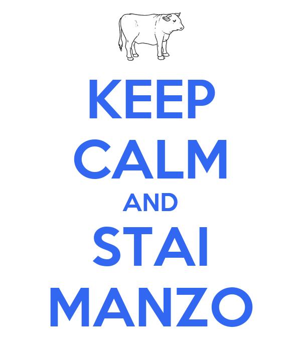 KEEP CALM AND STAI MANZO