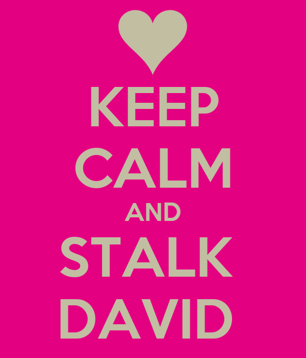KEEP CALM AND STALK  DAVID
