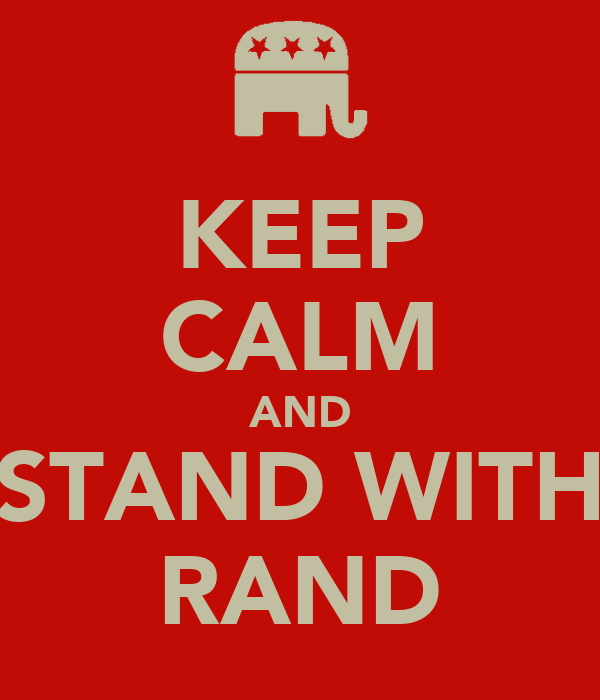 KEEP CALM AND STAND WITH RAND