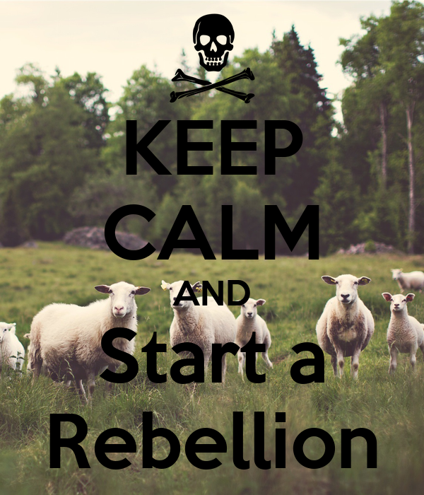 KEEP CALM AND Start a Rebellion