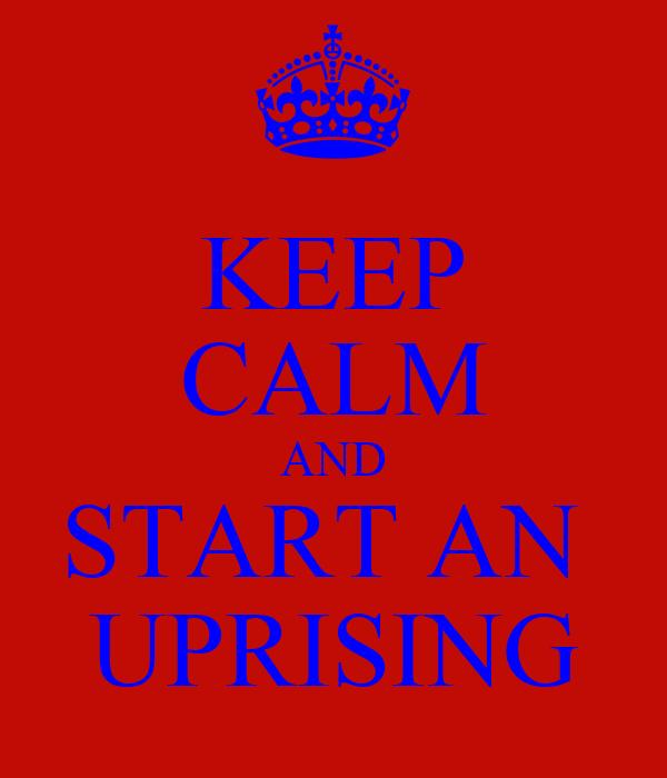KEEP CALM AND START AN  UPRISING