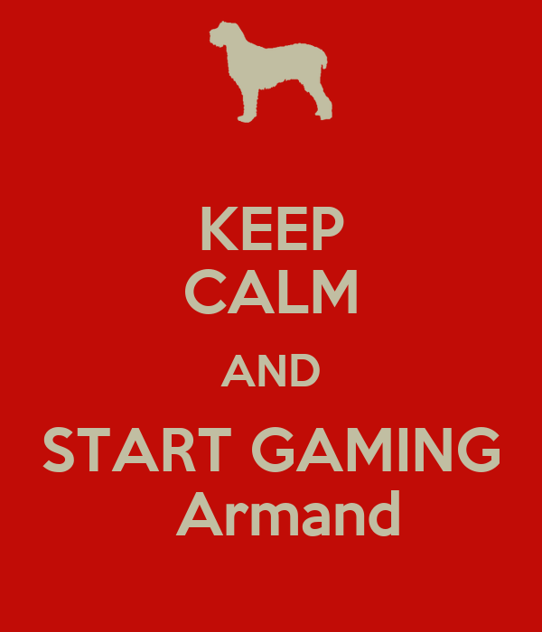 KEEP CALM AND START GAMING                      Armand