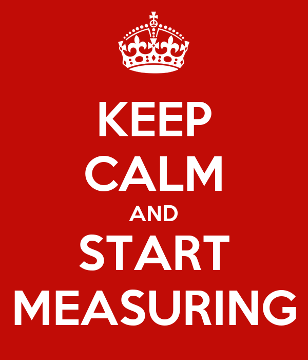KEEP CALM AND START MEASURING