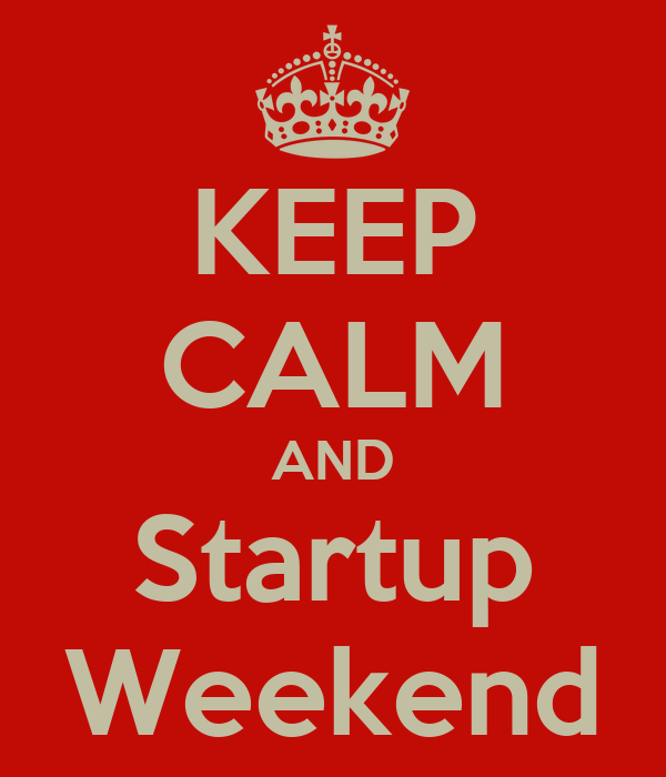 KEEP CALM AND Startup Weekend