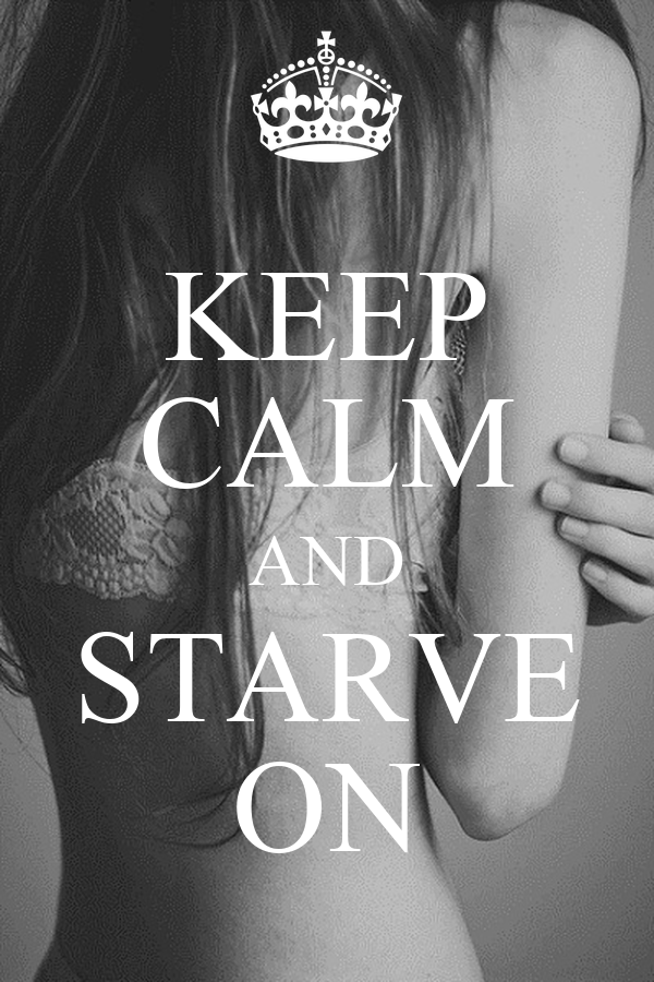 KEEP CALM AND STARVE ON