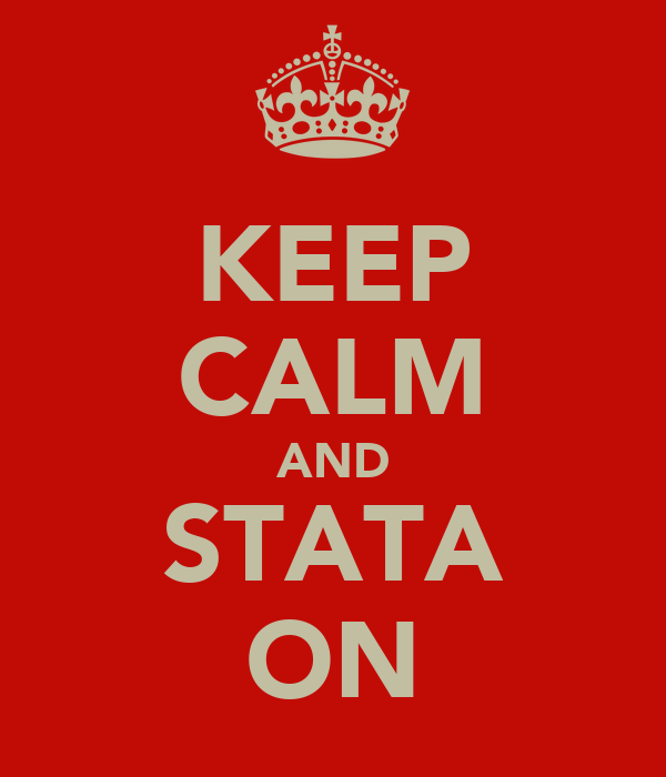 KEEP CALM AND STATA ON