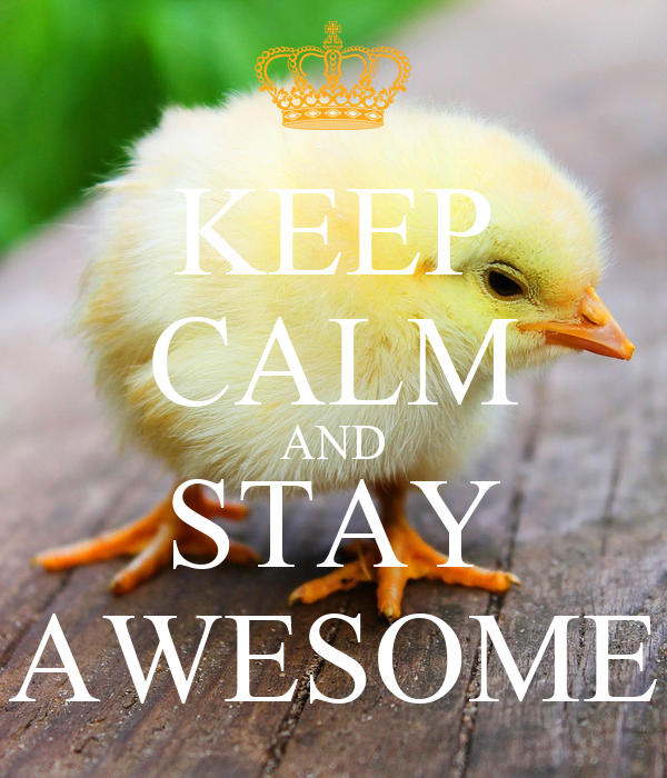 KEEP CALM AND STAY AWESOME Poster