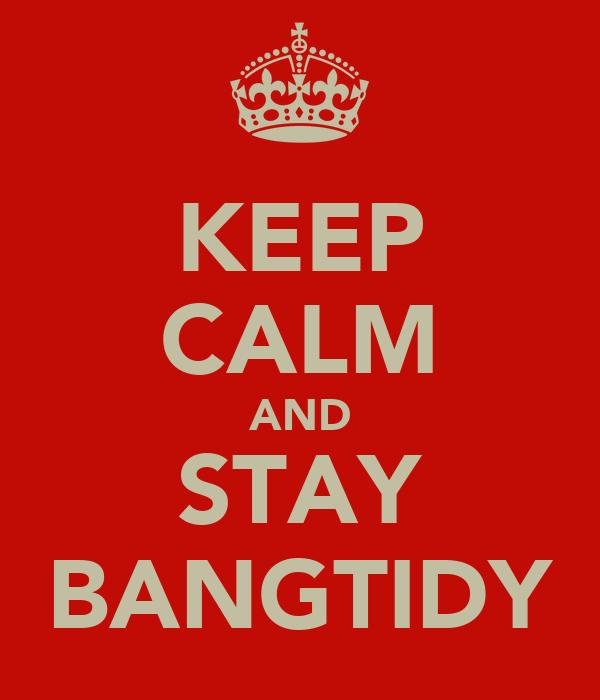 KEEP CALM AND STAY BANGTIDY